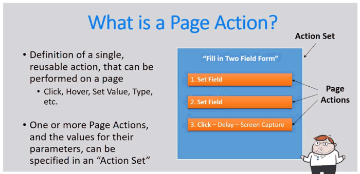 Screenshot of graphic depicting what a page action is.